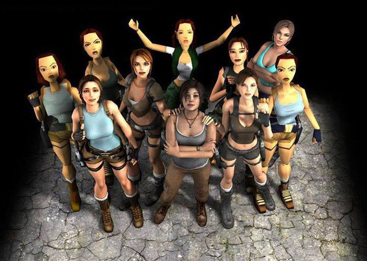 The Many Faces of Lara Croft (courtesy of Tomb Raider Wiki)