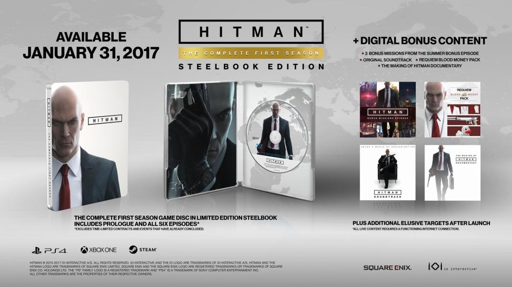 Hitman Complete First Season Steelbook